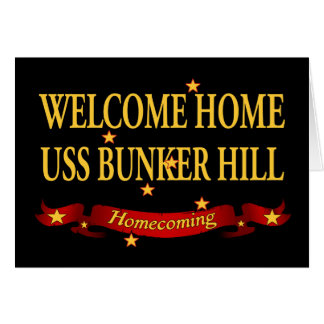 Welcome Home USS Bunker Hill Card