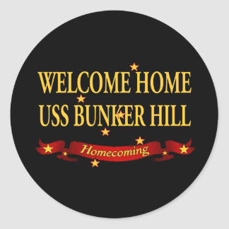 Welcome Home USS Bunker Hill Classic Round Sticker