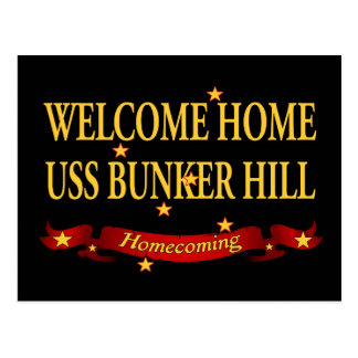 Welcome Home USS Bunker Hill Postcard