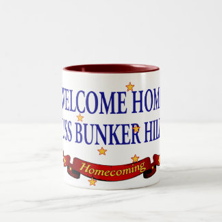 Welcome Home USS Bunker Hill Two-Tone Coffee Mug