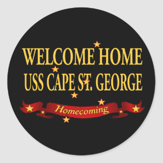 Welcome Home USS Cape St. George Classic Round Sticker