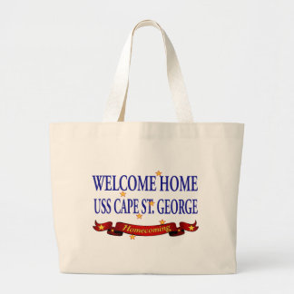 Welcome Home USS Cape St. George Large Tote Bag
