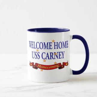 Welcome Home USS Carney Mug