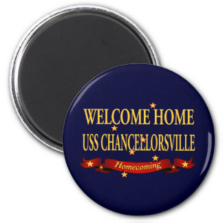 Welcome Home USS Chancellorsville 2 Inch Round Magnet