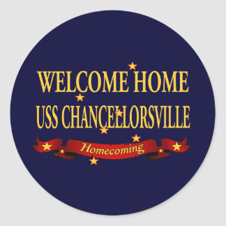 Welcome Home USS Chancellorsville Classic Round Sticker