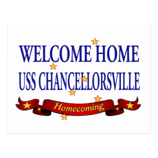 Welcome Home USS Chancellorsville Postcard