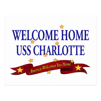 Welcome Home USS Charlotte Postcard