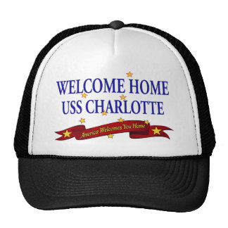 Welcome Home USS Charlotte Trucker Hat