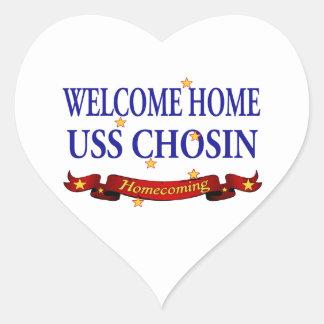 Welcome Home USS Chosin Heart Sticker