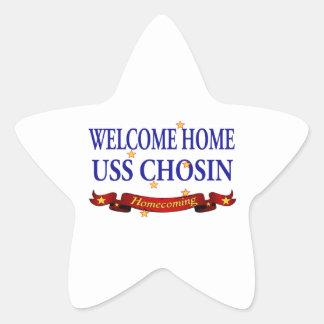 Welcome Home USS Chosin Star Sticker