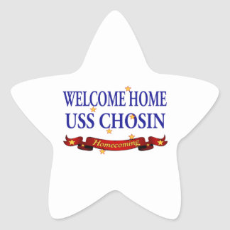 Welcome Home USS Chosin Star Stickers
