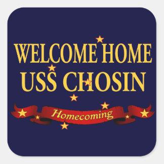Welcome Home USS Chosin Square Sticker