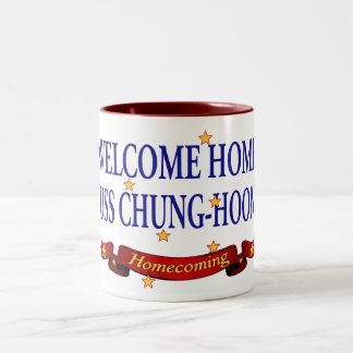 Welcome Home USS Chung-Hoon Two-Tone Coffee Mug
