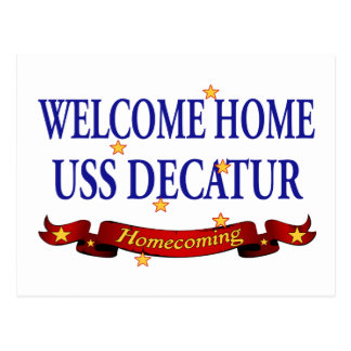 Welcome Home USS Decatur Postcard