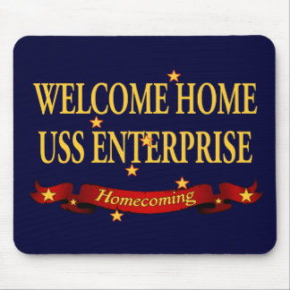 Welcome Home USS Enterprise Mouse Pad