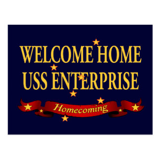 Welcome Home USS Enterprise Postcard