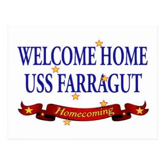 Welcome Home USS Farragut Postcard