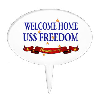 Welcome Home USS Freedom Cake Topper