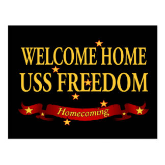 Welcome Home USS Freedom Postcard