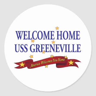 Welcome Home USS Greeneville Classic Round Sticker