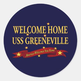 Welcome Home USS Greeneville Classic Round Sticker