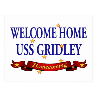 Welcome Home USS Gridely Postcard