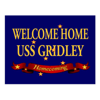 Welcome Home USS Gridley Postcards