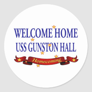 Welcome Home USS Gunston Hall Classic Round Sticker