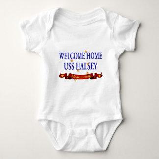 Welcome Home USS Halsey Baby Bodysuit