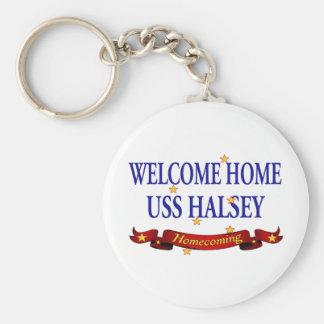 Welcome Home USS Halsey Keychain