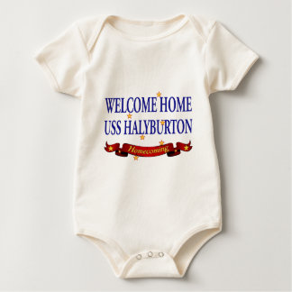 Welcome Home USS Halyburton Baby Bodysuit