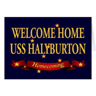 Welcome Home USS Halyburton Card