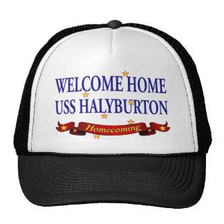 Welcome Home USS Halyburton Trucker Hat