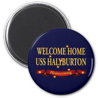 Welcome Home USS Halyburton Fridge Magnet