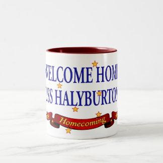 Welcome Home USS Halyburton Coffee Mug