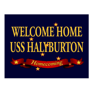 Welcome Home USS Halyburton Postcard