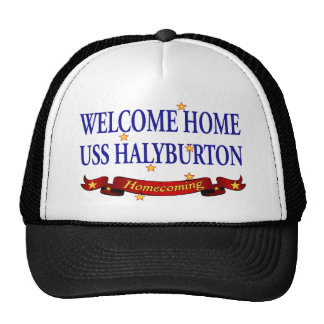 Welcome Home USS Halyburton Trucker Hat