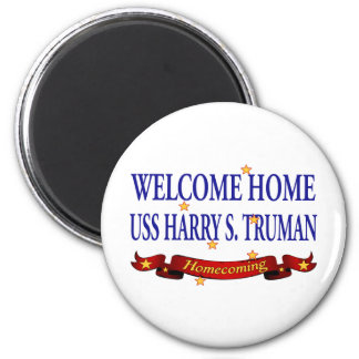 Welcome Home USS Harry S. Truman 2 Inch Round Magnet