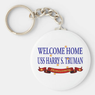 Welcome Home USS Harry S. Truman Basic Round Button Keychain