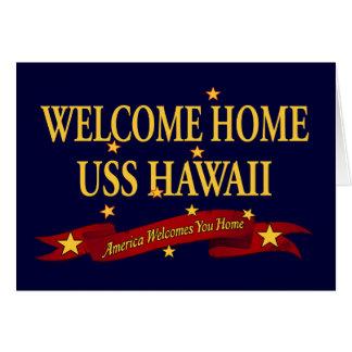 Welcome Home USS Hawaii Card