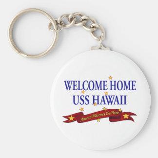 Welcome Home USS Hawaii Keychain