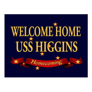 Welcome Home USS Higgins Postcard
