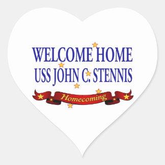 Welcome Home USS John C. Stennis Heart Sticker