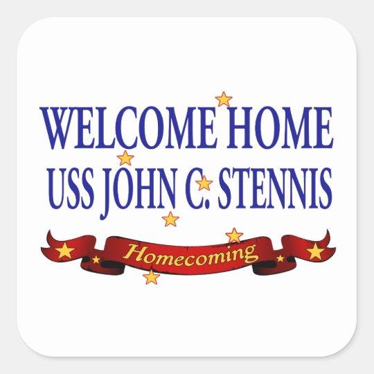 Welcome Home USS John C. Stennis Square Sticker