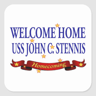 Welcome Home USS John C Stennis Stickers