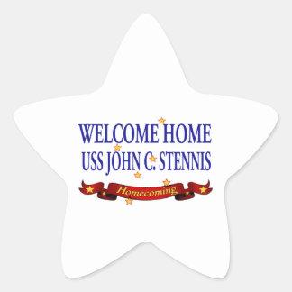 Welcome Home USS John C Stennis Sticker
