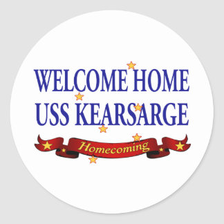 Welcome Home USS Kearsarge Classic Round Sticker