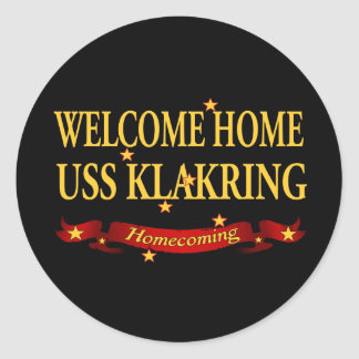 Welcome Home USS Klakring Classic Round Sticker