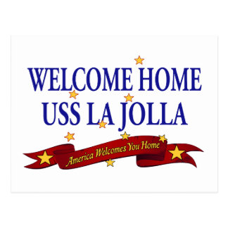 Welcome Home USS La Jolla Postcard