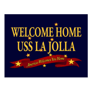 Welcome Home USS La Jolla Postcard